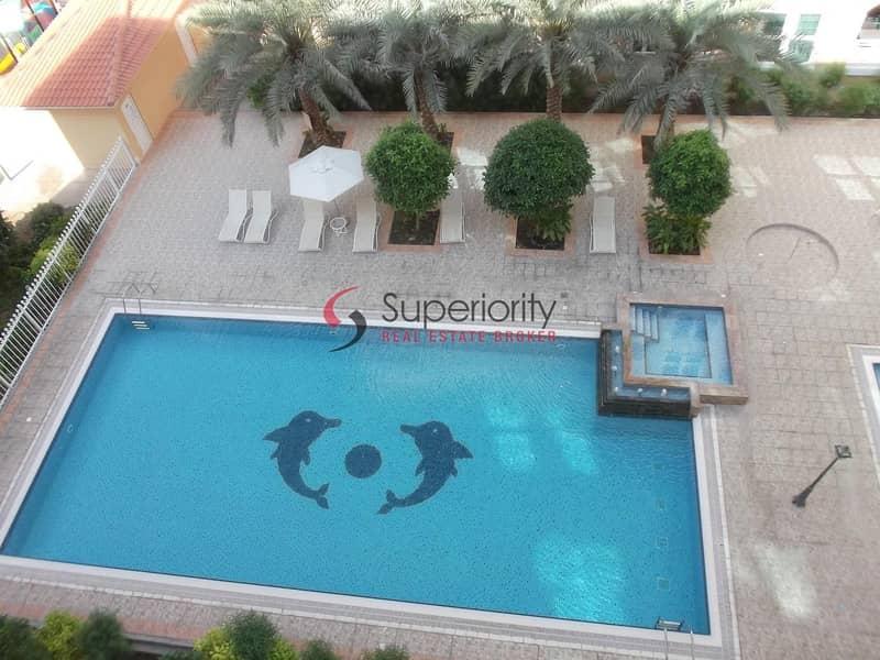 10 Swimming Pool View | 2bedroom Plus Maid's