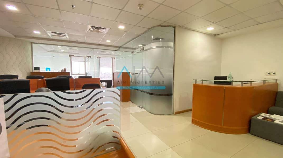 2 Parking Spaces | 1075sft | Fully Fitted and Partitioned | Citadel Business Bay