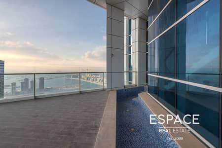 4 Bedroom Penthouse for Sale in Dubai Marina, Dubai - Duplex Penthouse | Plunge Pool | Sea and Palm Views