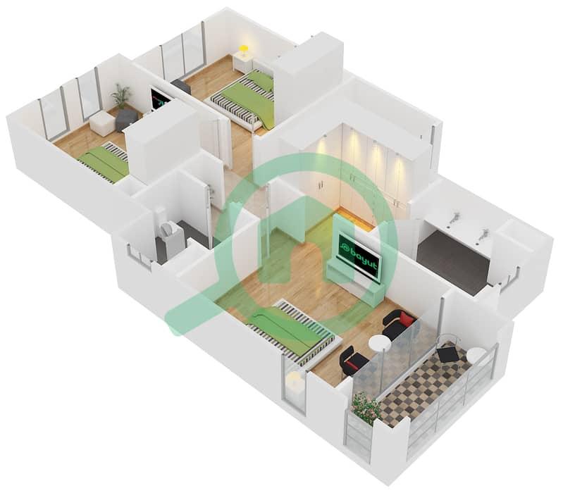 Floor Plans For Type B 3 Bedroom Townhouses In Bella Casa Bayut Dubai