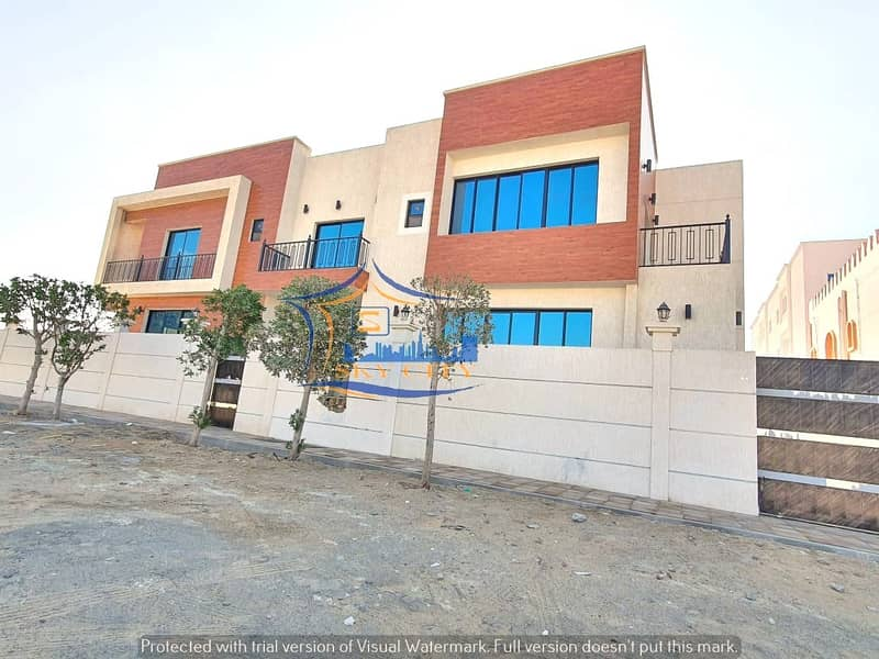 Modern villa for sale Luxurious finishes Al Mowaihat Ajman Behind Nesto Corner Street Close to all services and all banking facilities