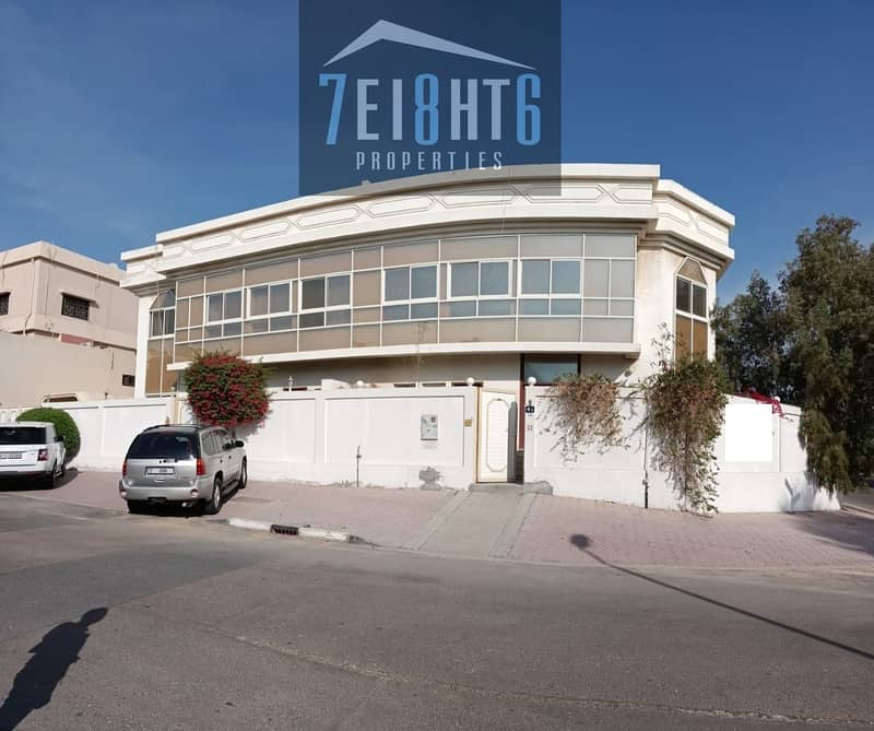 Outstanding property:  4 b/r good quality semi-independent villa + maids room + large garden for rent in Garhoud
