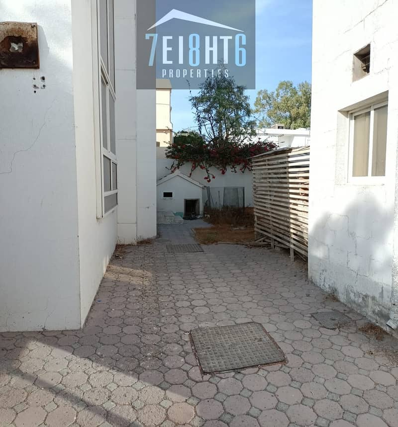 10 Outstanding property:  4 b/r good quality semi-independent villa + maids room + large garden for rent in Garhoud
