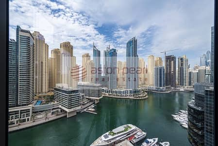 فلیٹ 1 غرفة نوم للبيع في دبي مارينا، دبي - Full Marina View |Corner Unit |Best Layout |Vacant