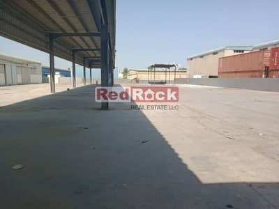 Industrial Land for Rent in Al Quoz, Dubai - Independent Land + Shed+ Office Ideal for Garage in Al Quoz