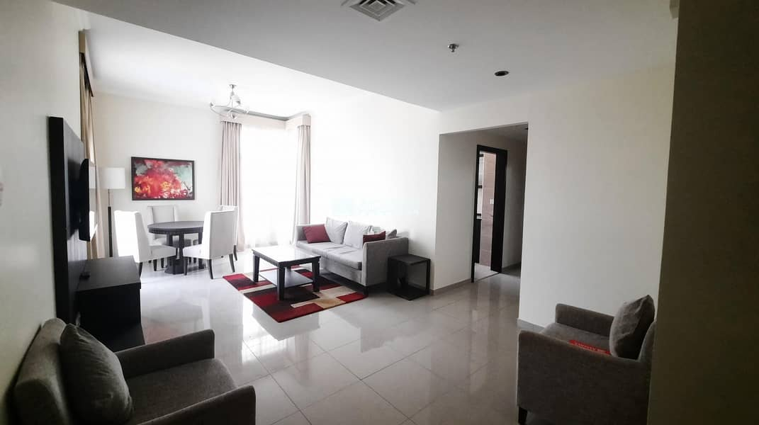 2 Fully Furnished || High Floor || Fabulous 1 BHK ||