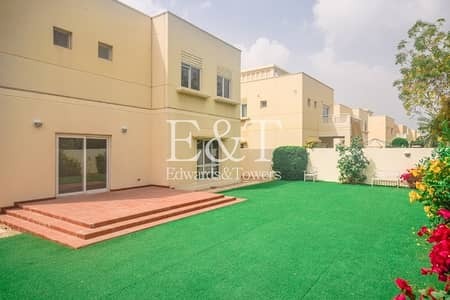 3 Bedroom Villa for Rent in The Meadows, Dubai - Landscaped Garden Single Row Maintenance Included
