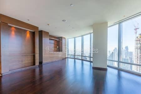 شقة 2 غرفة نوم للايجار في وسط مدينة دبي، دبي - Above 60th Floor   Unfurnished   Type D