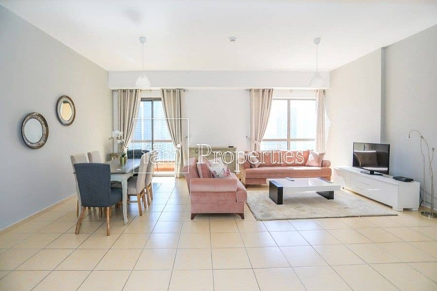 Beautifully furnished 2 BR marina view/ high floor