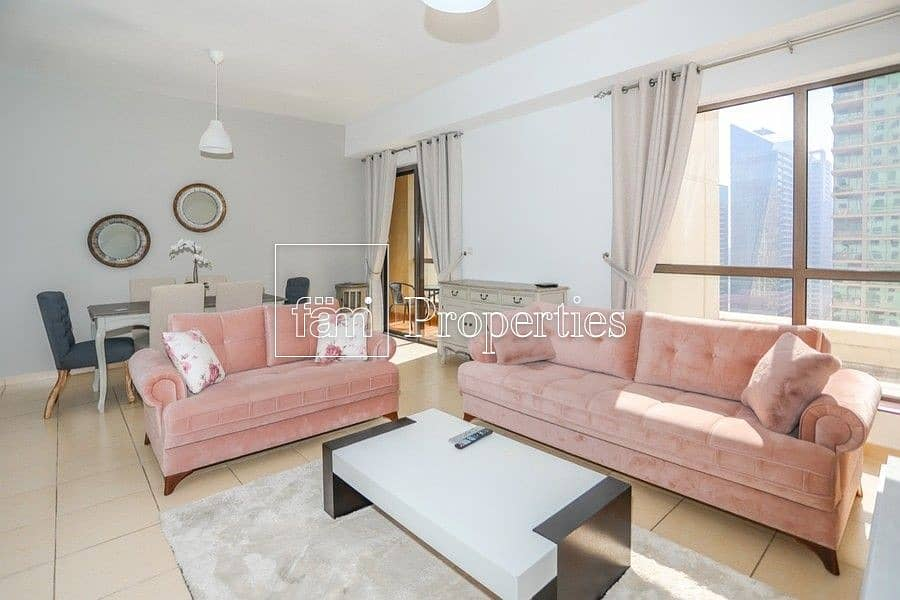 2 Beautifully furnished 2 BR marina view/ high floor