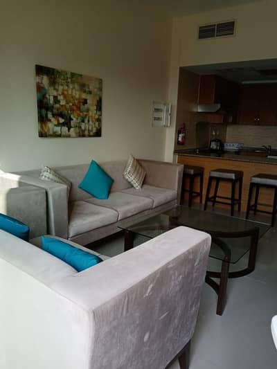 1 Bedroom Apartment for Rent in Jebel Ali, Dubai - Available Bedroom apartment with double balcony / fully furnished