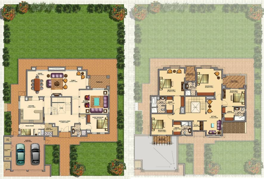 10 Huge Plot| Private Pool| Golf Course View