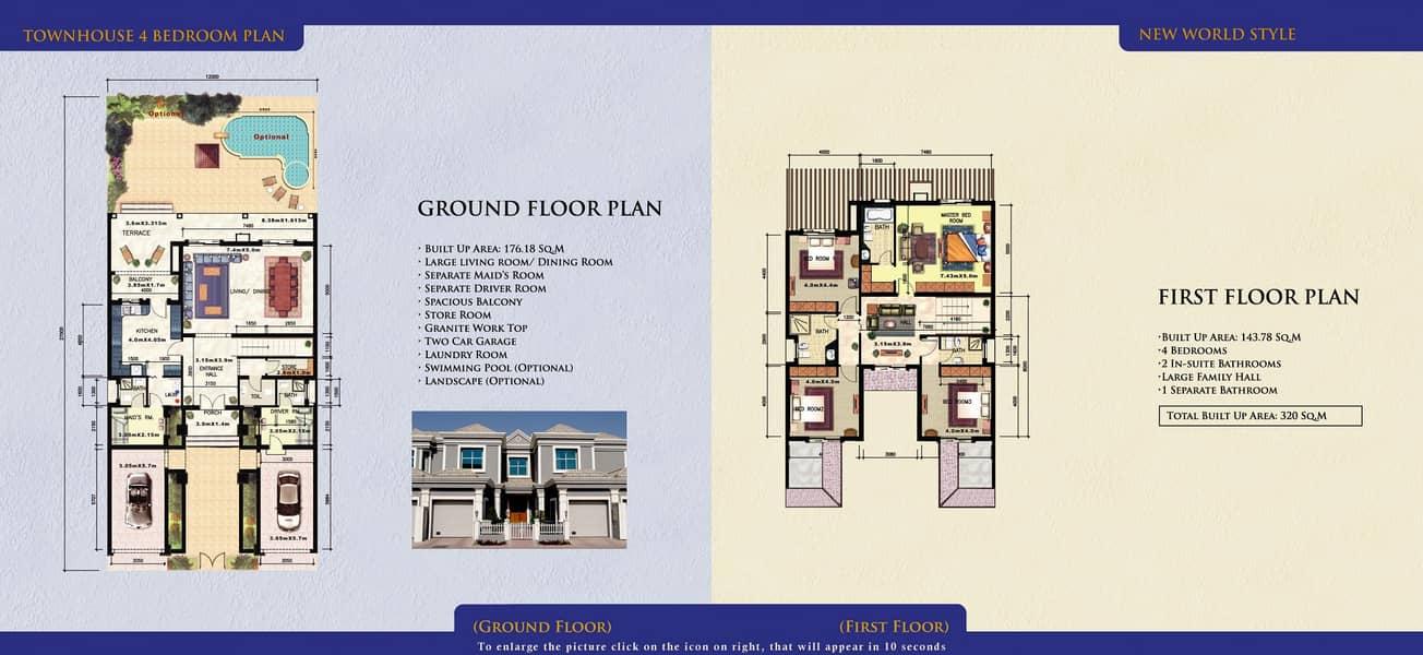 15 4 Bedrooms | 3444 Sq Ft BUA | Plus Maid's