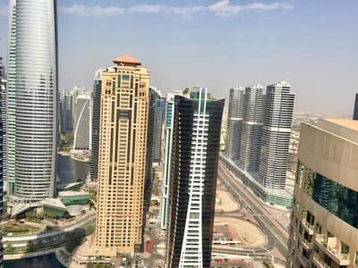 1 Bedroom Apartment for Rent in Jumeirah Lake Towers (JLT), Dubai - 46k! | 1 B/R+STUDY  WITH BALCONY & LAKE VIEW IN PRETONI