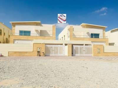 5 Bedroom Villa for Sale in Al Mowaihat, Ajman - A modern villa with European design, the latest in the emirate of Ajman, close to all services in the most prestigious areas (Al Mowaihat 2)