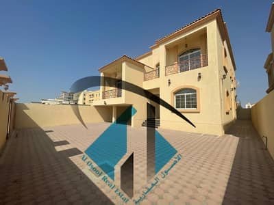 6 Bedroom Villa for Sale in Al Mowaihat, Ajman - For sale without down payment, a new 6-room villa, a third piece, from Sheikh Ammar Street