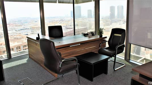 Office for Rent in Bur Dubai, Dubai - Remarkable Location| Fully Fitted Elegant | Bright | Efficient Office | with breathing  view