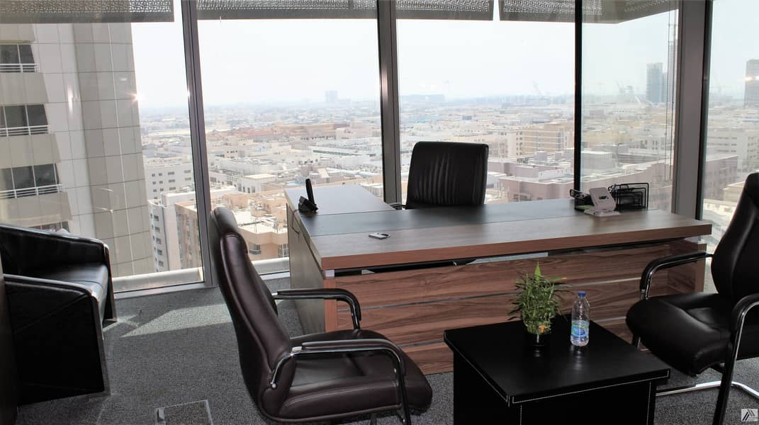 2 Remarkable Location| Fully Fitted Elegant | Bright | Efficient Office | with breathing  view