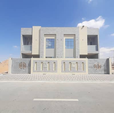 4 Bedroom Villa for Sale in Al Yasmeen, Ajman - Ground, first and roof villa, modern design with cabanas with walls and distinctive personal finishing at a great price