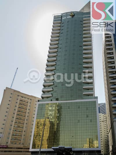 2 Bedroom Flat for Rent in Al Nahda, Sharjah - 2BHK with Health Club Access Available in Diamond Tower 3
