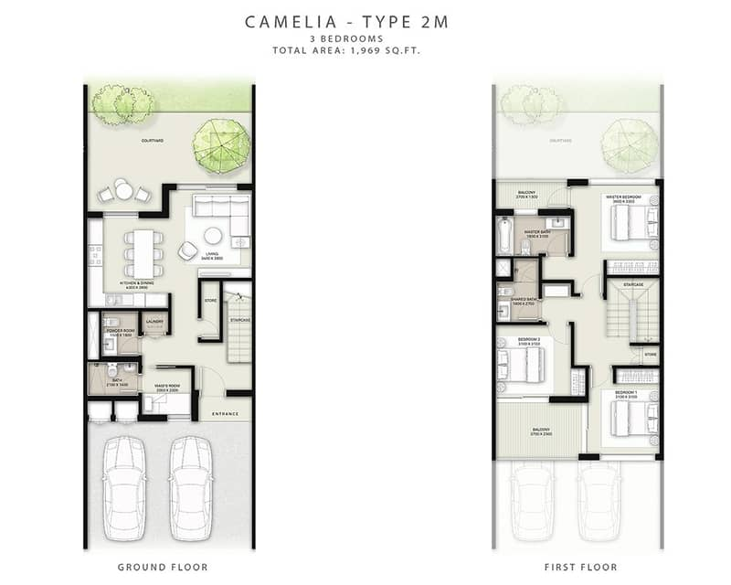 7 3 Beds | Single Row | Close To Entrance