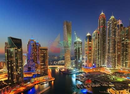 3 Bedroom Flat for Rent in Dubai Marina, Dubai - Amazing three bedrooms with full Marina view and nice balconies