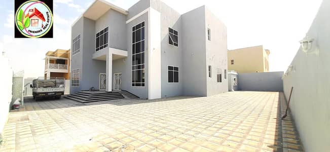 7 Bedroom Villa for Sale in Hoshi, Sharjah - For sale, personal finishing villa, the best European decorations and designs, large areas, without downpayment, central air conditioning, general, a very privileged location, Qar Street