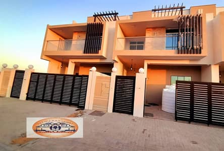 4 Bedroom Villa for Sale in Al Zahia, Ajman - Modern villa for sale in European design - directly on Al-Jar Street - super duplex finishes - at an excellent price