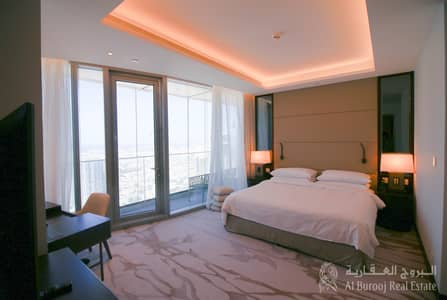 4 Bedroom Apartment for Rent in Downtown Dubai, Dubai - Big Living area| Sea View | Four Bedroom For Rent in Sky View Tower 1