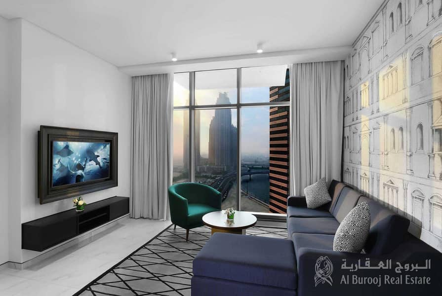2 All Bills/Utilities included  Furnished 1BHK in 5 Star hotel apt