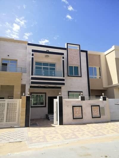 5 Bedroom Villa for Sale in Al Yasmeen, Ajman - Villa for sale in Al Yasmeen Ajman freehold - stone facade, excellent finishes