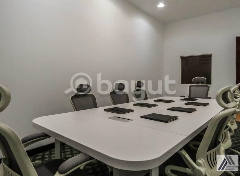 2  AC and DEWA!  Office with Furniture | Linked with Mall and Metro