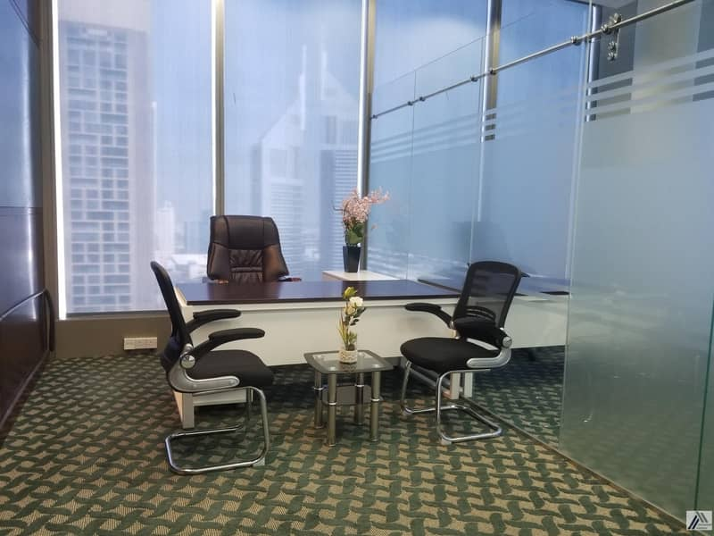 16  AC and DEWA!  Office with Furniture | Linked with Mall and Metro