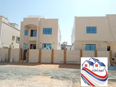 5 Bedroom Villa for Sale in Al Yasmeen, Ajman - Villa for sale in the Yasmine area, freehold for all nationalities, with the possibility of bank financing  Super Deluxe Ground + First + Racks Finishing