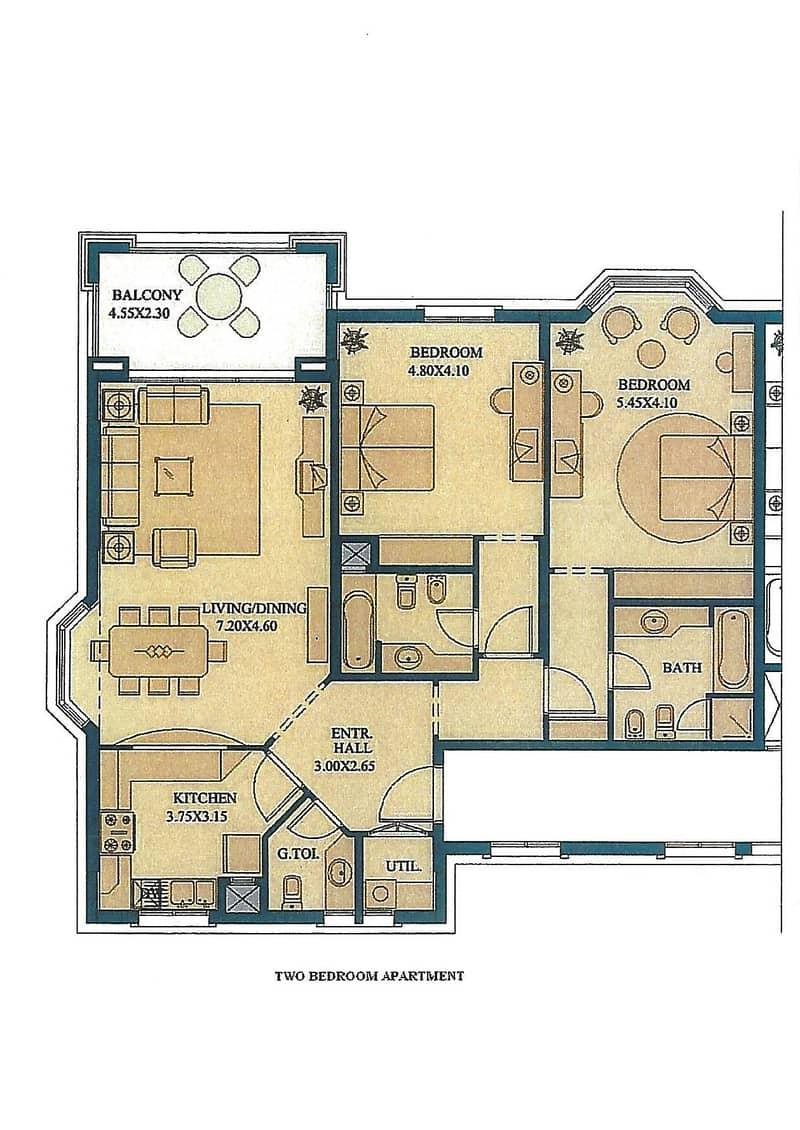 11 Developer plan - Two Bedroom