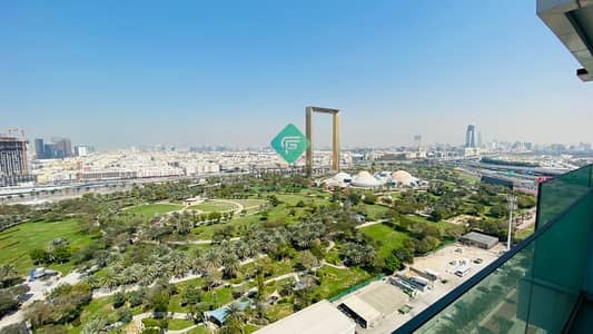2 Bedroom Apartment for Rent in Bur Dubai, Dubai - Full Frame and Park View | Brand New | Near Metro