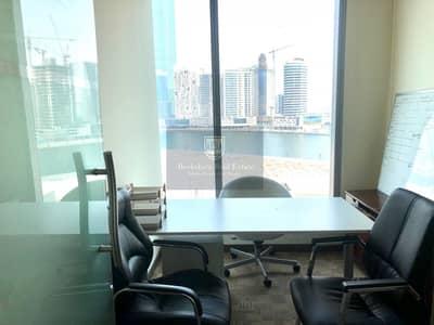 مکتب  للايجار في الخليج التجاري، دبي - Fully Fitted Office| With Lake View| 2 Car Parking