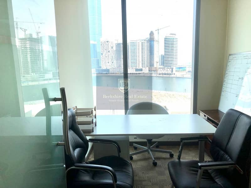 Fully Fitted Office| With Lake View| 2 Car Parking