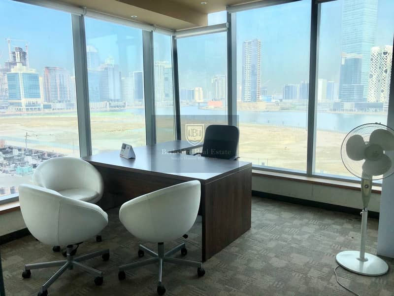 2 Fully Fitted Office| With Lake View| 2 Car Parking