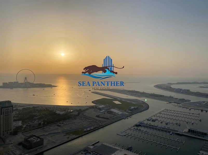 2 Stunning Sea View | 3 BR w/ Maid's Room | Dubai Marina