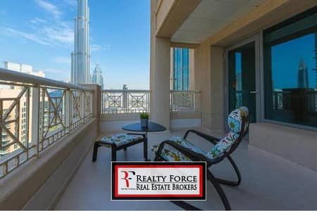 1 Bedroom Flat for Sale in Downtown Dubai, Dubai - HIGH FLOOR | 1BR W/TERRACE | BURJ KHALIFA VIEW