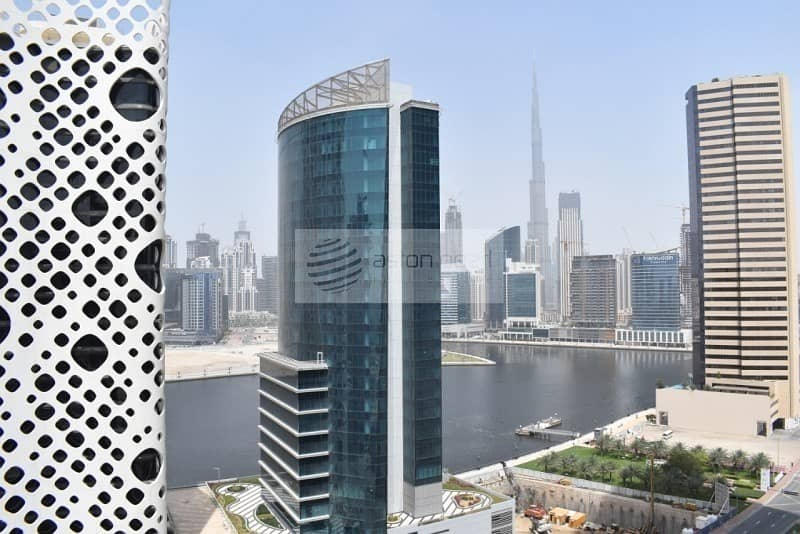 Canal and Burj View || 1 BR + Study || Ubora Tower