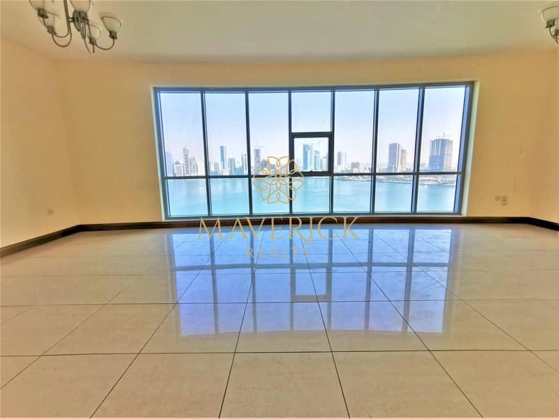 2 Full Sea View | Huge 3BR+Maids/R | Gym+Pool | 6Chq