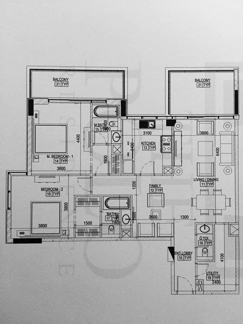 9 4 Bath | 2Bed + Maids | Spacious Apartment