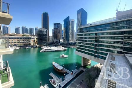 1 Bedroom Apartment for Rent in Dubai Marina, Dubai - Marina View | Balcony | Unfurnished | Chiller Free