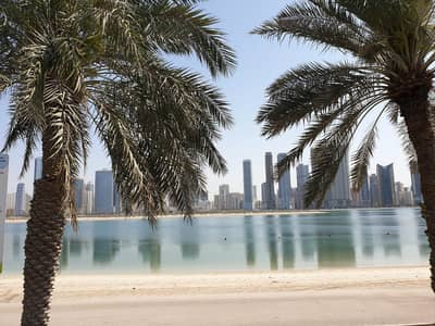 Plot for Sale in Al Khan, Sharjah - Lands for sale, on the lakes of Sharjah - Height permit -  towers - residential / commercial / office