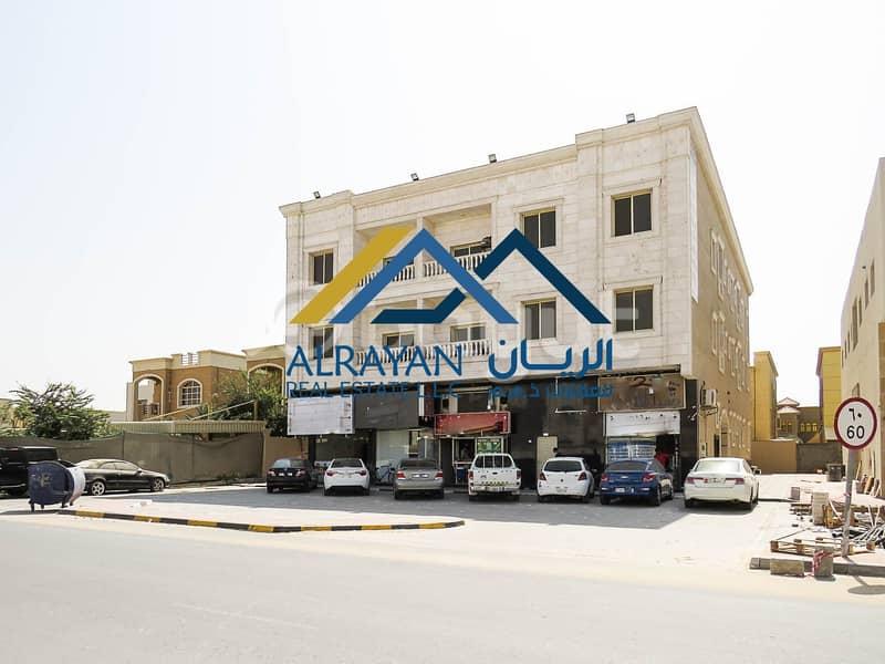 بناية جديدة سكني تجاري للبيع علي شارع رئيسي مساحة 8 الف قدم مع دخل مربح