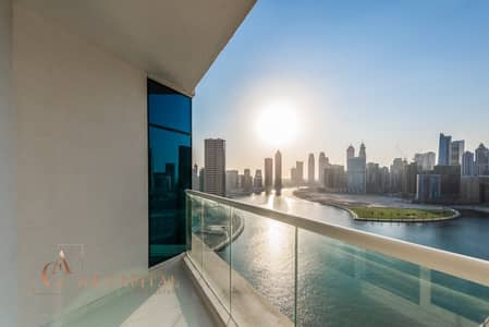 2 Bedroom Flat for Rent in Business Bay, Dubai - Balcony | Available Now  | Canal View