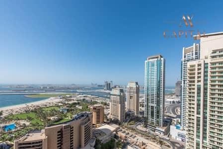 شقة 2 غرفة نوم للبيع في دبي مارينا، دبي - Sea View | Balcony | Unfurnished | Spacious