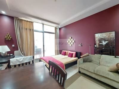استوديو  للايجار في دبي مارينا، دبي - Fully Furnished Boutique Studio w/  Dubai Eye View